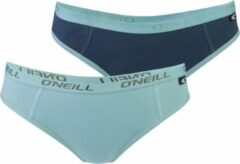 Groene O'Neill Dames Hipster Plain 2-pack, 801042, Lilly Pad/India Ink