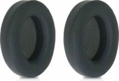 Kwmobile 2x oorkussens voor Beats Studio 2 / 3 Wireless koptelefoons - imitatieleer - voor over-ear-koptelefoon - titaniumgrijs