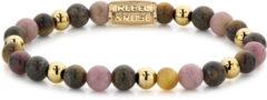 Rebel & Rose Rebel and Rose RR-60060-G Rekarmband Beads Winter Glow II meerkleurig-goudkleurig 6 mm S 16,5 cm