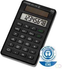 Zakrekenmachine Citizen Office ECC-110 Eco Zwart Aantal displayposities: 8 werkt op zonne-energie (b x h x d) 70 x 15 x 118 mm