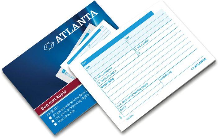 Afbeelding van Atlanta by Jalema bonboekjes genummerd 1-50, 50 blad in tweevoud, met carbon