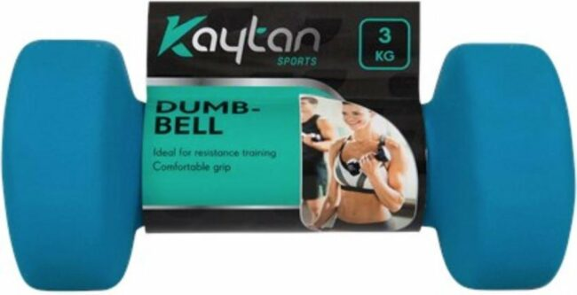 Afbeelding van Kaytan 3 kg soft grip Dumbbell - Gewichten - Losse gewichten - Halters - Blauw - 1 stuk