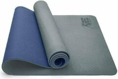 Sens Design yogamat sportmat fitnessmat - grijs/donkerblauw