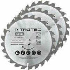 TROTEC Cirkelzaagbladenset voor hout Ø 150 mm (24 tanden), 3-delig