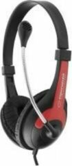 Esperanza EH158R hoofdtelefoon/headset Hoofdband Zwart, Rood