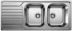 Van Marcke Blanco inbouwspoelbak Dinas 8S 2 bakken 1160x500mm omkeerbaar RVS
