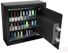 Zwarte Perel Tools Sleutelkluis - 28 X 30 X 10 Cm - 30 Sleutels