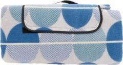 Merkloos / Sans marque Picknickkleed XXL Blauwe Rondjes - Plaid 200 x 200 cm - Picknickdeken Waterdicht - Strandlaken