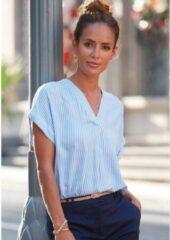 Witte Vivance blouse met korte mouwen