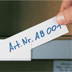Merkloos / Sans marque Papieretiketten, wit, individueel beschrijfbaar, 100/VE 75 x 18 mm