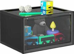 Transparante MIRA Home - Schoenenbox - Dozen - Opbergdozen met deksel - Set van 6 - Zwart - Doorzichtig - 36x28x22