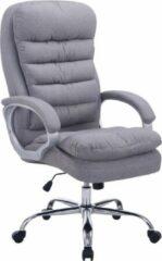 Luxe Comfort Bureaustoel van stof - XXL variant - Max 235 kg draagvermogen - Ergonomisch - Grijs