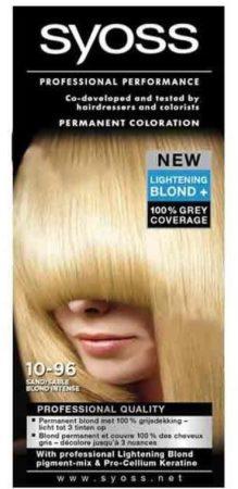 Afbeelding van Syoss Professional Performance Haarverf Color Crème Intense Blond/ Zand Nr. 10-96