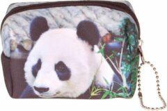 Zwarte S.Y.W Kleine etui/klein toilettasje panda