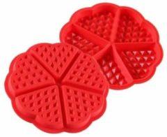 TrendX Siliconen Wafelvorm / Wafelijzer – Hartvorm - Rood - G&S