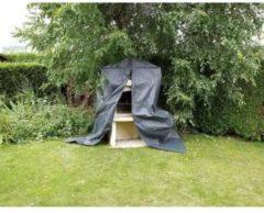 Zwarte Nature Stenen barbecue hoes 80x128x253 cm PE 6030614