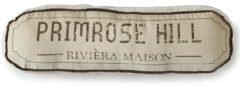 Witte Riviera Maison Rivièra Maison - Primrose Hill Pillow 50x13 - Sierkussen - Wit - Katoen