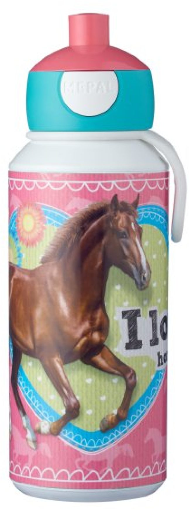 Afbeelding van Betaalbaarshoppen Mepal Campus Drinkfles Pop-up 400 ml - My Horse