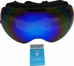 Zwarte Nihao Baltic TPU Ultra-Light frame. Ski/Snowboard Goggle