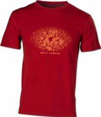 Wolf Camper Square t-shirt rood