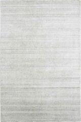 Licht-grijze Decor24 Ultra deluxe handgeweven vloerkleed Legend - 100% wol - lichtgrijs - 90x160 cm