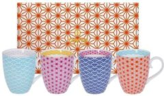 Tokyo Design Studio | Star Wave | Set van 4 Mokken 380 ml | In geschenkdoos