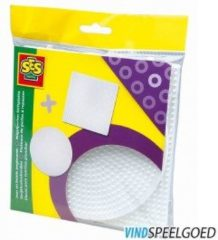 Strijkkralen bordjes SES 2-pack: rond en vierkant