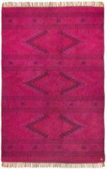 Rosa Flachflorteppich Vintage Kelim Tom Tailor pink