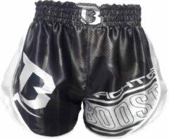 Booster fight gear Booster Kickboks Broekje B Force 1 Muay Thai Short Zwart Wit L = maat 31/32 | 70-80kg