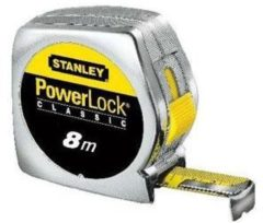 Stanley meetlint PowerLock, mylar. coating, (lxb) 8mx25mm, behuizing kunststof