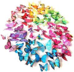 Paarse Home Deco 3D vlinders | Mix Kleuren (6 setjes)