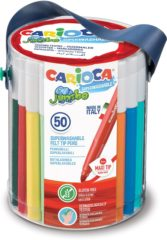 Carioca viltstift Jumbo Superwashable 50 stiften in een plastic pot
