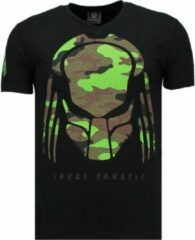 Local Fanatic Predator - Rhinestone T-shirt - Zwart Predator - Rhinestone T-shirt - Wit Heren T-shirt Maat XXL