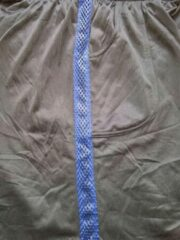 Marineblauwe Trenas Strydom Crazee Wear - Fitnessbroek - Monster Mesh - Heren - Maat M - Zwart - met Navy brede Mesh streep - MPM