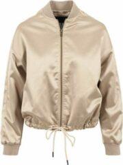 Urban Classics Jacket -S- Kimono Blouson Satijn look Goudkleurig
