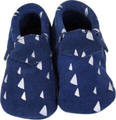 Lait et Miel - Babyslofjes - Leer - 12-18 maanden - Blauw Wit