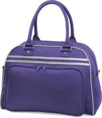 Paarse Bagbase Retro Schoudertas Purple/Light Grey 23 Liter