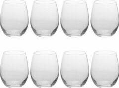 Transparante Bellatio Design 8x Luxe sapglazen/waterglazen van 390 ml - vaatwasserbestendig - verzwaarde glazen