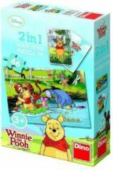 Dino Winnie de pooh 2 in 1 puzzel 66 stukjes 3+