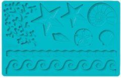 Blauwe Siliconen mal - Sea Life Designs / zee / oceaan motief - Wilton