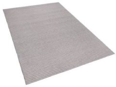 Licht-grijze Vloerkleed lichtgrijs 160 x 230 cm KILIS