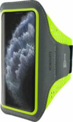 Groene Mobiparts Comfort Fit Sport Armband Apple iPhone 11 Pro Neon Green