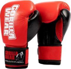 Gorilla Wear Ashton Pro Bokshandschoenen - Boxing Gloves - Boksen - Rood/Zwart - 8 oz