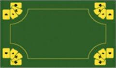 Groene Buffalo speelkaarten / poker mat kaartkleed 60x40