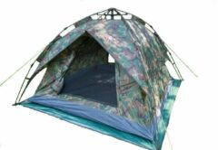 Donkergroene FUD Camouflage Festivaltent 210X210X140Cm 2 - Camouflage Groen - 3 Persoons