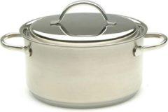 Roestvrijstalen Demeyere Resto kookpot met deksel 18 cm
