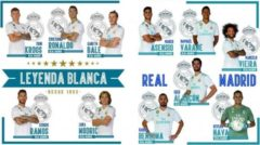Real Madrid CF Real Madrid Muurstickers 11 Spelers 2 Stickervellen