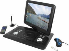 "Zwarte Soundmaster PDB1600SW Portabel DVD speler- met DVB-T2 HD tuner- 15,4"" TFT -LCD scherm"