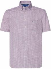 Paarse Campbell Casual overhemd met korte mouwen