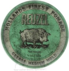 Groene Reuzel Hf Pomade Grease Medium Hold - groen Karton @ 1 Stuk X 113 Gr